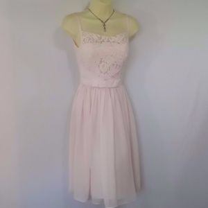 """TED BAKER """"MIMEE"""" PINK FIT & FLARE DRESS NWOT 2"""